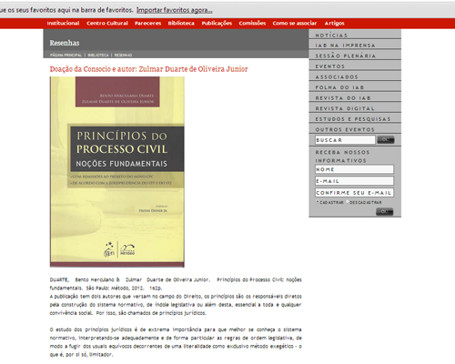 Thiago Cirne - Memória do Instituto dos Advogados Brasileiros - img2
