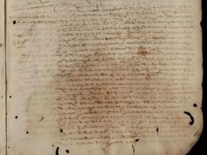 Documento no qual Miguel de Cervantes figura como arrecadador da Fazenda Real.
