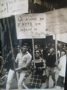 Estudantes realizam passeata no Centro do Rio. Foto: F. Milton/Arquivo Nacional