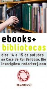Cartaz de curso sobre e-books ministrado por Moreno Barros. Imagem: Divulgação