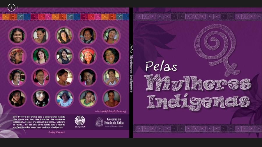 """Capa do livros """"Pelas Mulheres Indíginas"""""""
