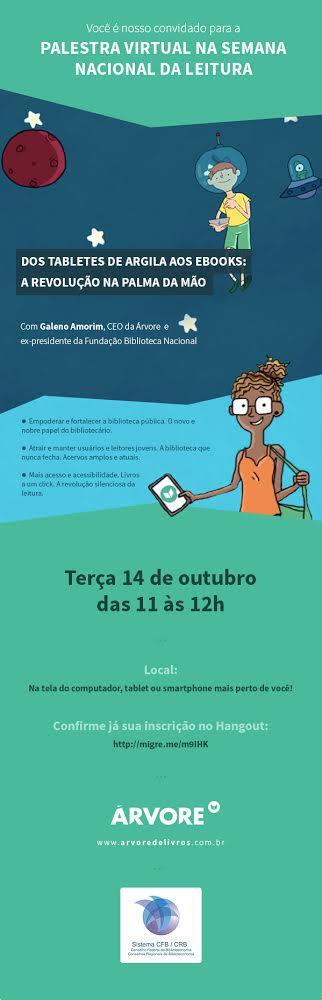 Convite virtual dia da leitura