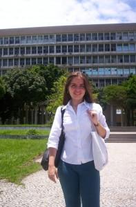 No dia da posse como bibliotecária concursada da UFRJ em 2009