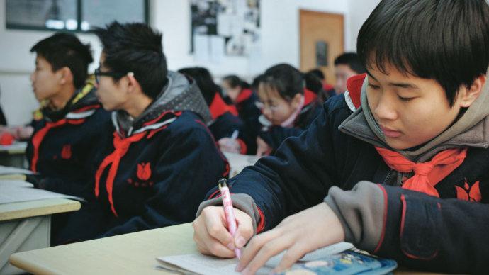 Estudantes em escolas mais simples em Xangai costumam se sair melhores que estudantes ricos dos Estados Unidos. Foto: Philippe Lopez/AFP/VEJA.