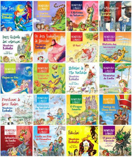 Recorrentes nos livros de Monteiro Lobato, as personagens moradoras do Sítio do Picapau Amarelo ficaram eternizadas em nossa literatura