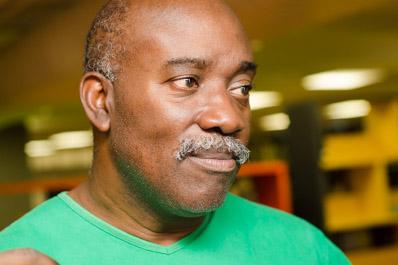 Haroldo Cesar, 53 anos, participa do Manguinhos em Cena desde 2012