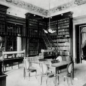 Vista do interior da Biblioteca Nacional em seu antigo endereço, na Rua do Passeio, na Lapa / Foto: Divulgação