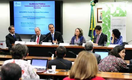 A Comissão de Educação da Câmara dos Deputados discutiu projeto que cria o Fundo Nacional Pró-Leitura. Foto: Gabriela Korossy / Câmara dos Deputados