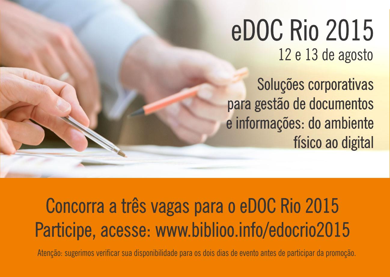 Promoção eDOC Rio 2015