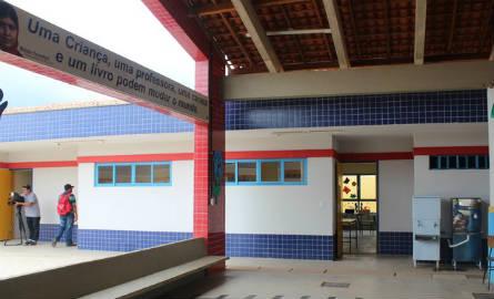Unidade Escolar na cidade de Cristino Castro, no Sul do Piauí (Foto: Patrícia Andrade/G1)