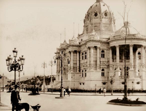 Palácio Monroe no Centro do Rio de Janeiro. (Foto: Arquivo Geral da Cidade do Rio de Janeiro)