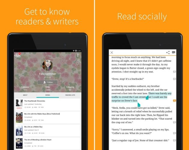 10. Wattpad eBook Reader