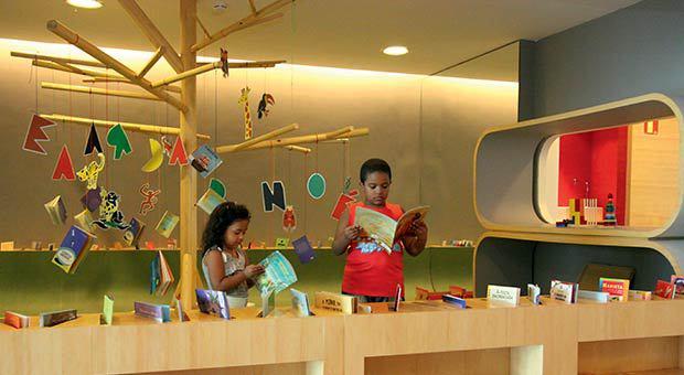 Biblioteca infantil da Biblioteca Parque do Rio. Foto: msalx.vejario.abril.com.br