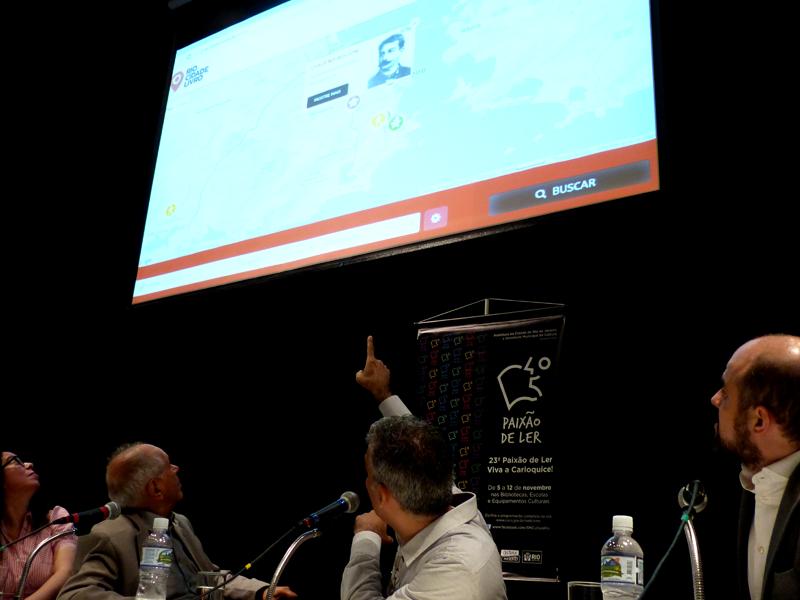 Claudio Soares apresenta o Rio Cidade Livro. Foto: Hanna Gledyz / Agência Biblioo