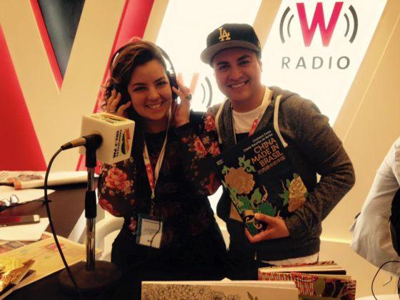 A carioca Michelle Strzoda, da Babilona Cultura Editorial, integrou a delegação do MinC e foi entrevistada pela rádio mexicana W.