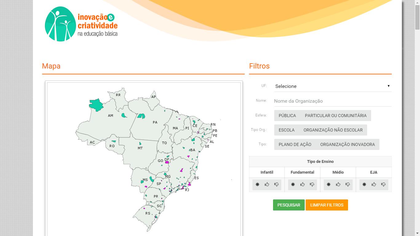 Portal Inovação e Criatividade na Educação Básica do Brasil