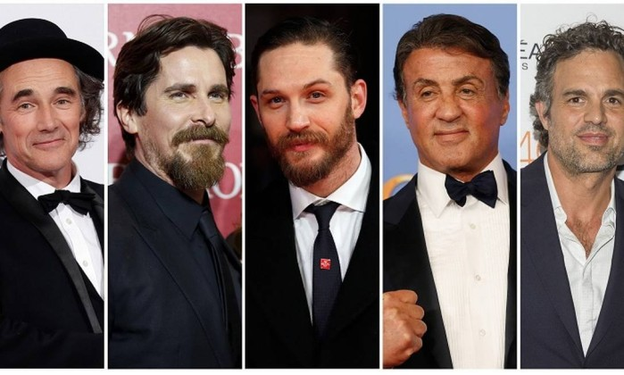 Mark Rylance, Christian Bale, Tom Hardy, Sylvester Stallone and Mark Ruffalo disputam na categoria melhor ator coadjuvante - STAFF / REUTERS