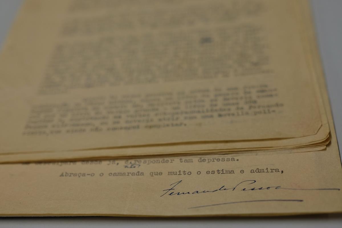 Carta que Fernando Pessoa escreveu em 1935 a Adolfo Casais Monteiro a explicar a origem dos heterónimos, Biblioteca Nacional de Portugal, Lisboa. Foto: publico.pt.