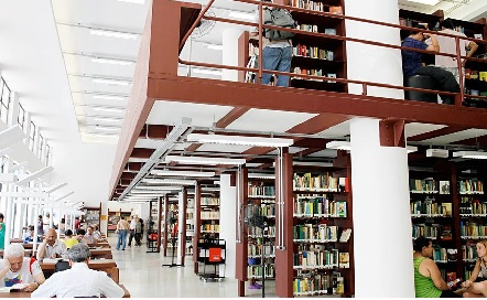 Biblioteca Mário de Andrade, localizada na Rua da Consolação, nº 94 - Consolação, São Paulo. Foto: divulgação.